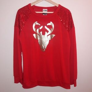 Jerry Leigh| Christmas holiday reindeer sweater